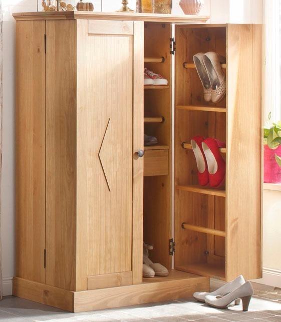 home affaire schuhschrank liva aus massiver kiefer online kaufen otto. Black Bedroom Furniture Sets. Home Design Ideas