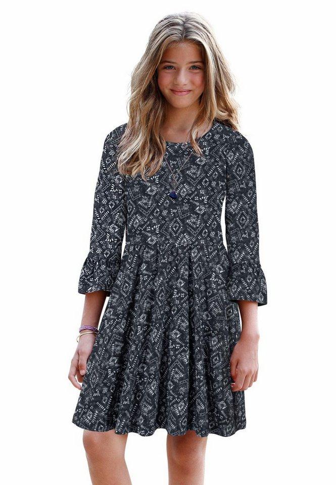 Arizona Jerseykleid in schwarz-bedruckt