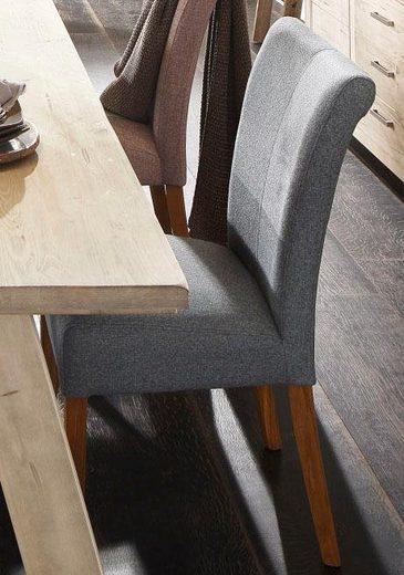 Home affaire 4-Fußstuhl »Queen« (Set, 2 Stück), bezogen mit Web- oder Strukturstoff, Microfaser oder Kunstleder. Im 2er-, 4er oder 6er-Set