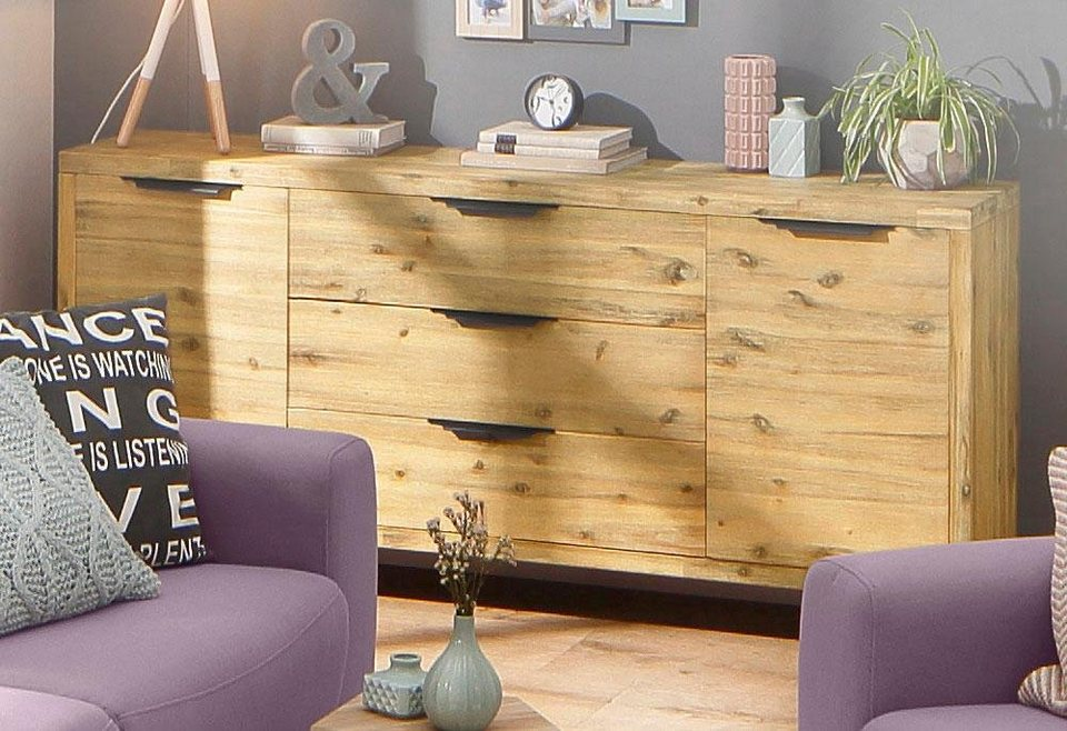 home affaire sideboard viby gro aus massivem akazienholz breite 180 cm online kaufen otto. Black Bedroom Furniture Sets. Home Design Ideas