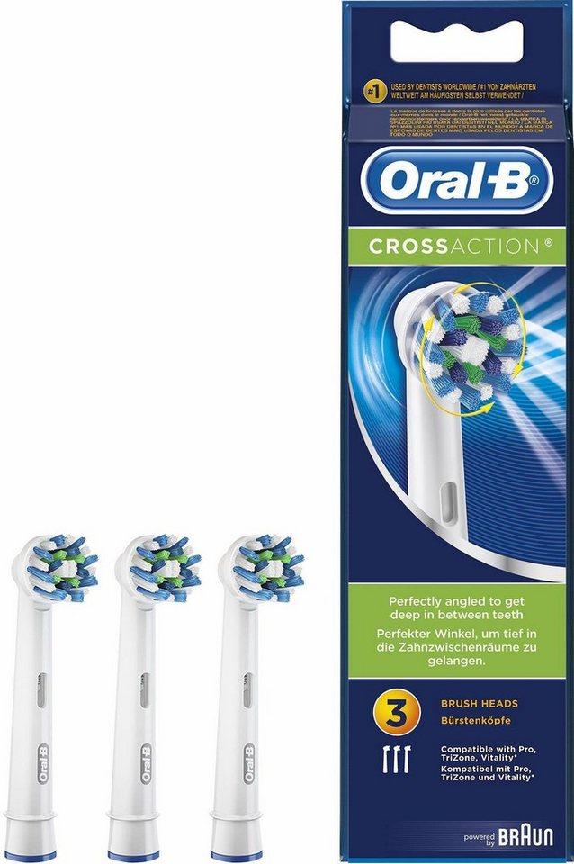 Oral-B Aufsteckbürsten CrossAction , 3er Pack