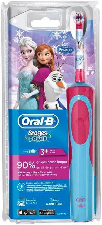 Oral-B Elektrische Zahnbürste Stages Power Kids, mit Figuren aus »Die Eiskönigin - Völlig unverfroren«