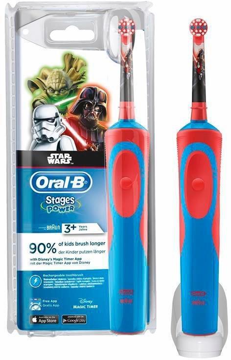Oral-B Elektrische Zahnbürste Stages Power, Star Wars in blau/rot