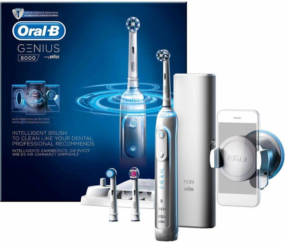 Oral-B Elektrische Zahnbürste Genius 8000, Powered By Braun in weiß