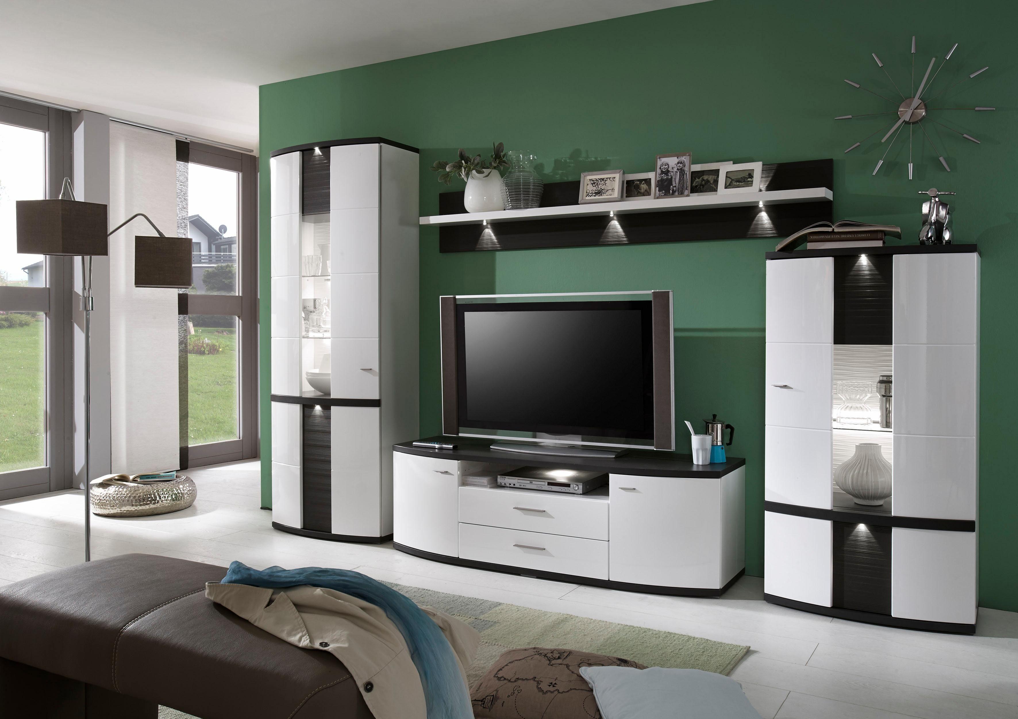 Moderne Wohnwand Style : Places of style wohnwand tlg cabana« mit integrierter