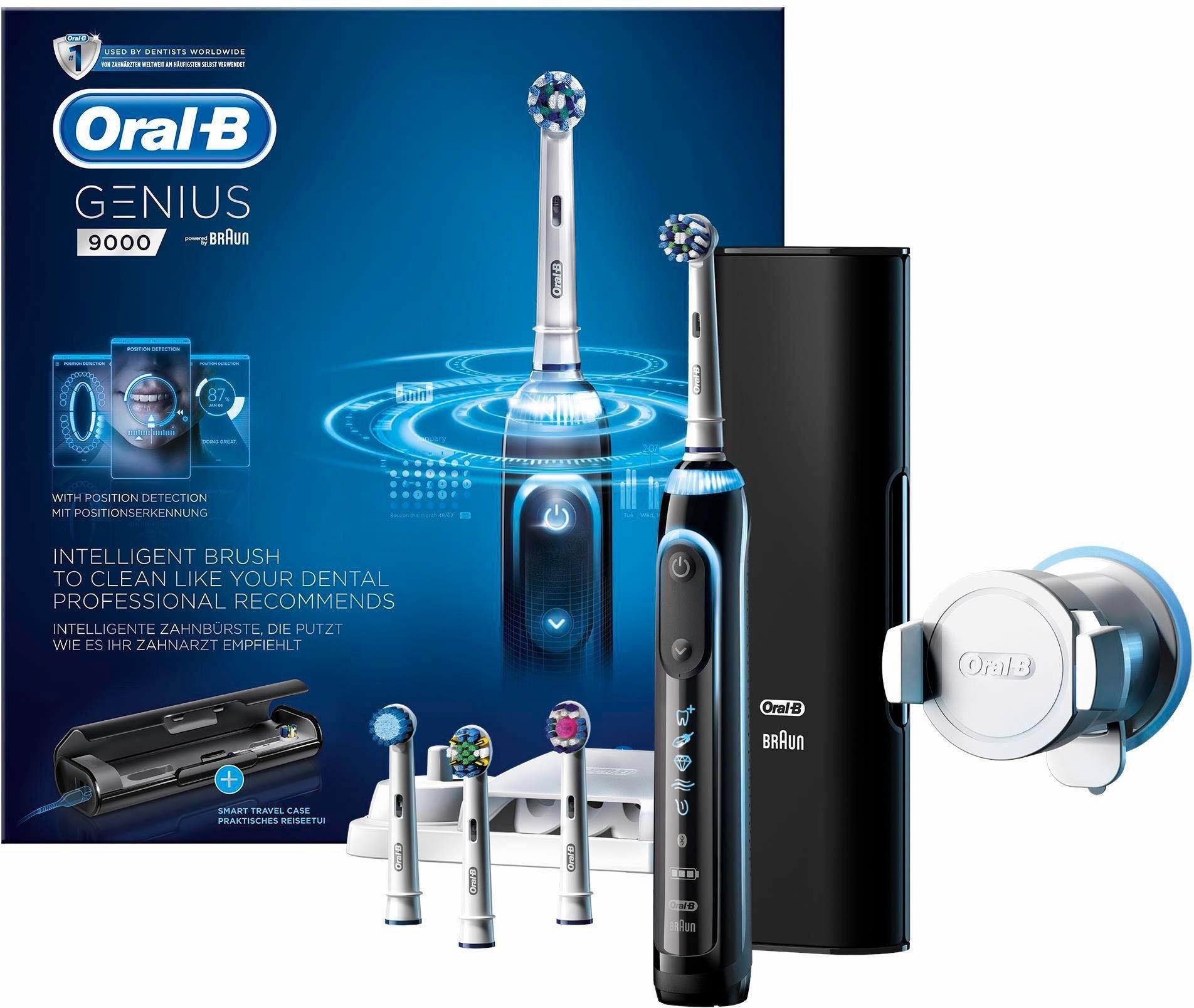 Oral-B Elektrische Zahnbürste Genius 9000 Black, Powered By Braun