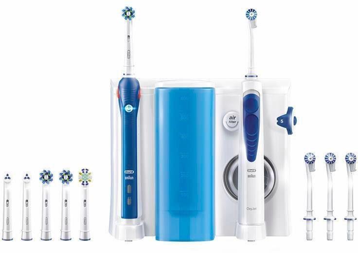 Oral-B Reinigungssystem OxyJet - Munddusche + Oral-B PRO 3000 elektrische Zahnbürste