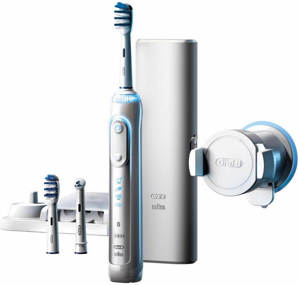 Oral-B Elektrische Zahnbürste Genius 8000 TriZone, Powered By Braun in weiß