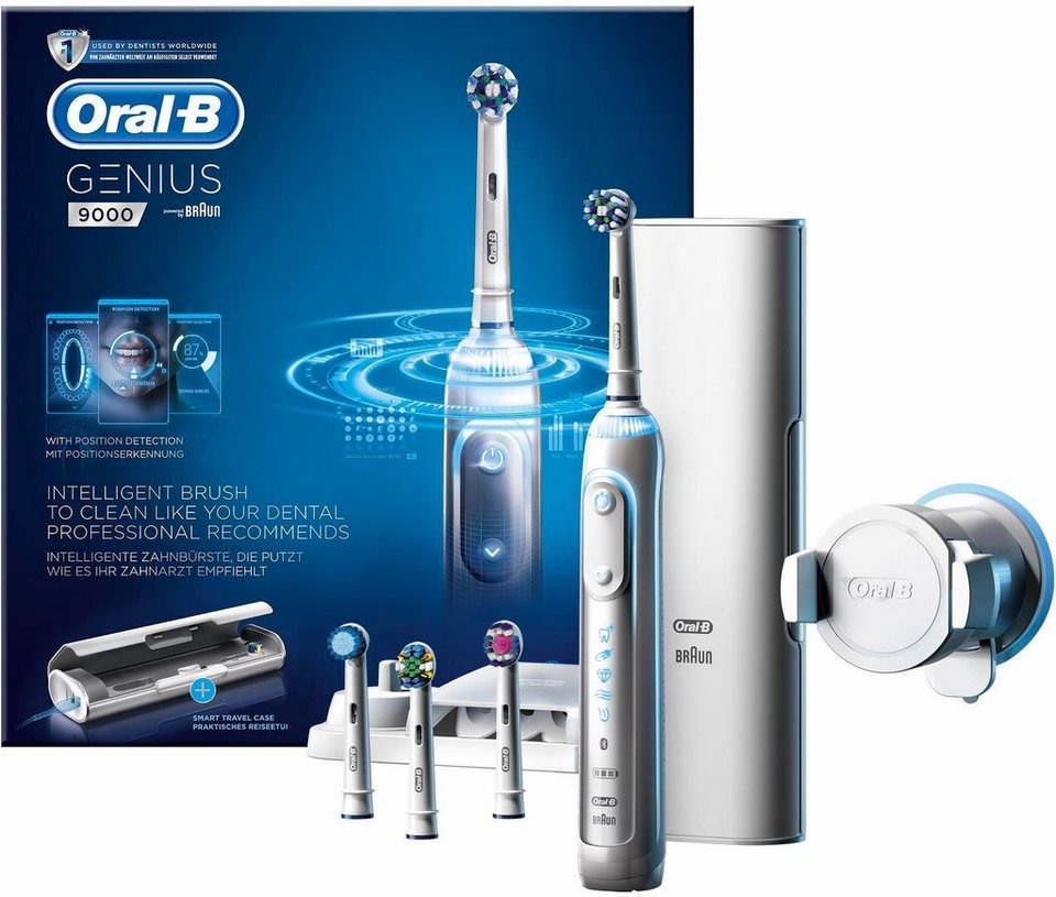 oral b elektrische zahnb rste genius 9000 white powered by braun online kaufen otto. Black Bedroom Furniture Sets. Home Design Ideas