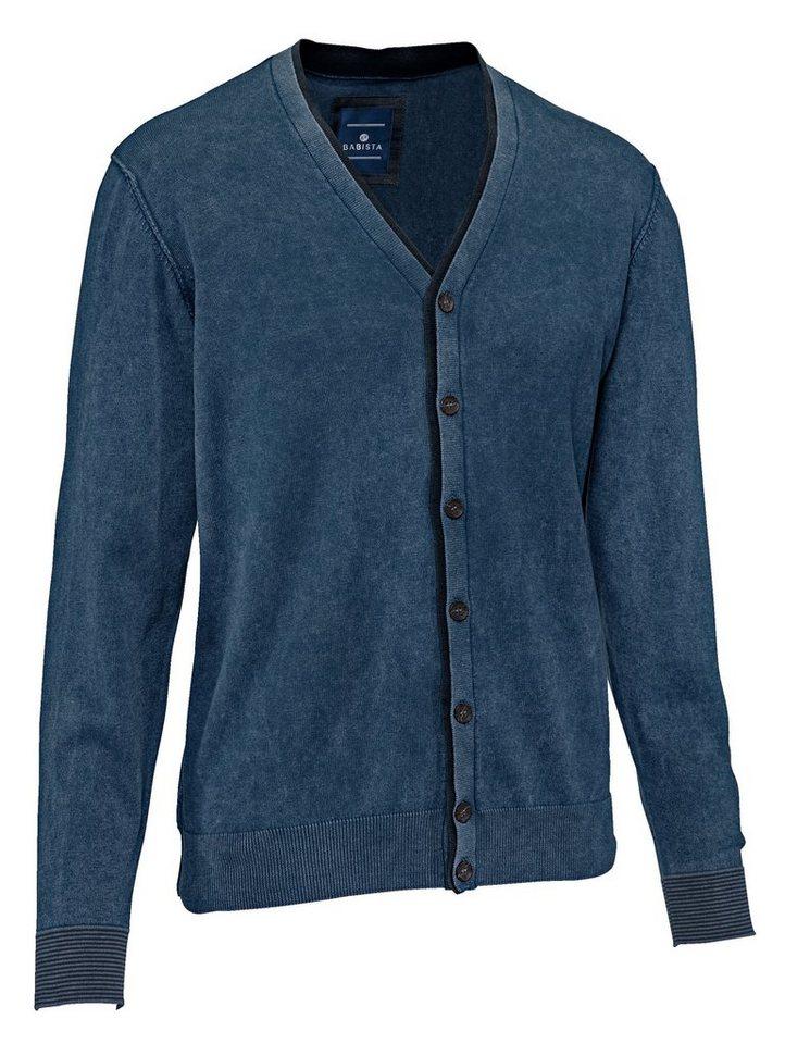 Babista Cardigan in vorgewaschener Qualität in jeansblau