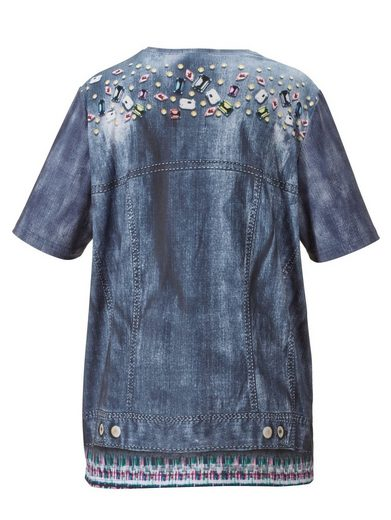 Miamoda Shirt With Jean Jackets-pressure Round