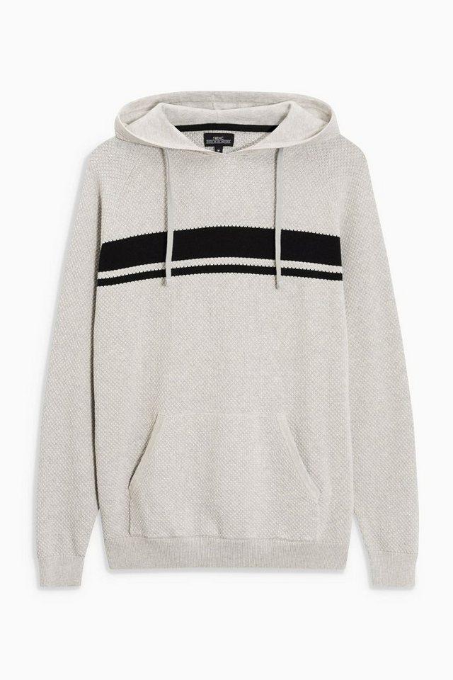 Next Kapuzensweatshirt mit Streifendetail in Grey