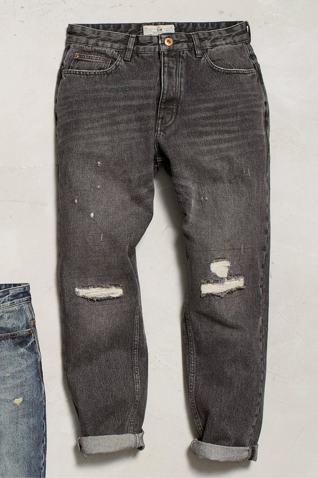 Next Jeans in Used-Optik in Tapered Fit