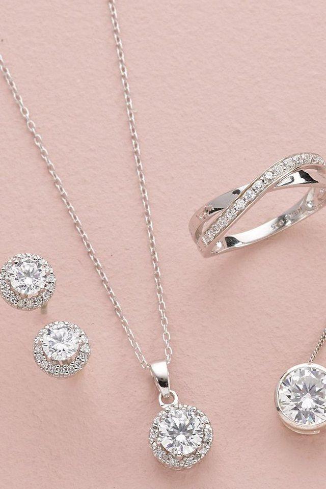 Next Halskette aus Sterling-Silber, Set in Silver