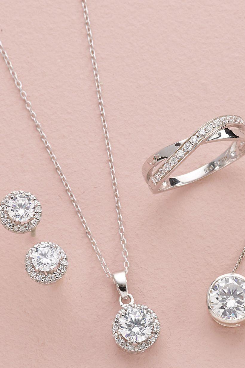 Next Halskette aus Sterling-Silber, Set