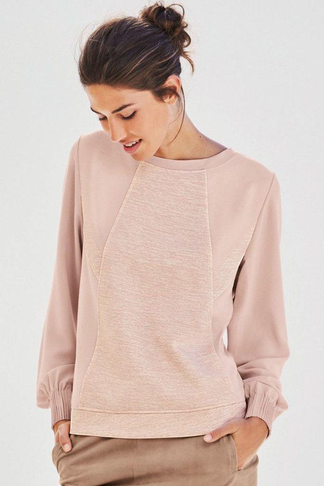 Next Sweatshirt im Bahnenlook in Pink