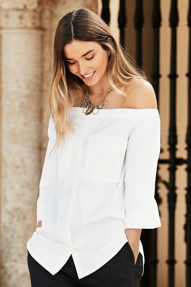 Next Schulterfreies Shirt in White