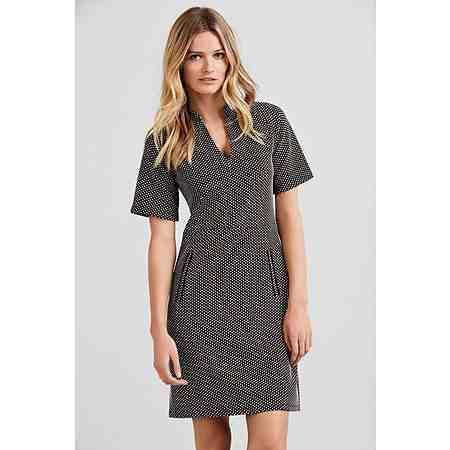 Next Jacquard-Kleid mit Tupfen