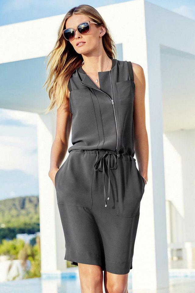 Next Sportliches Kleid mit Reißverschluss in Grey
