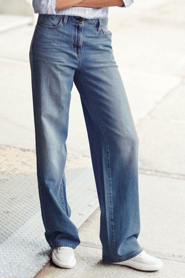 Next Jeans mit weitem Bein in Blue