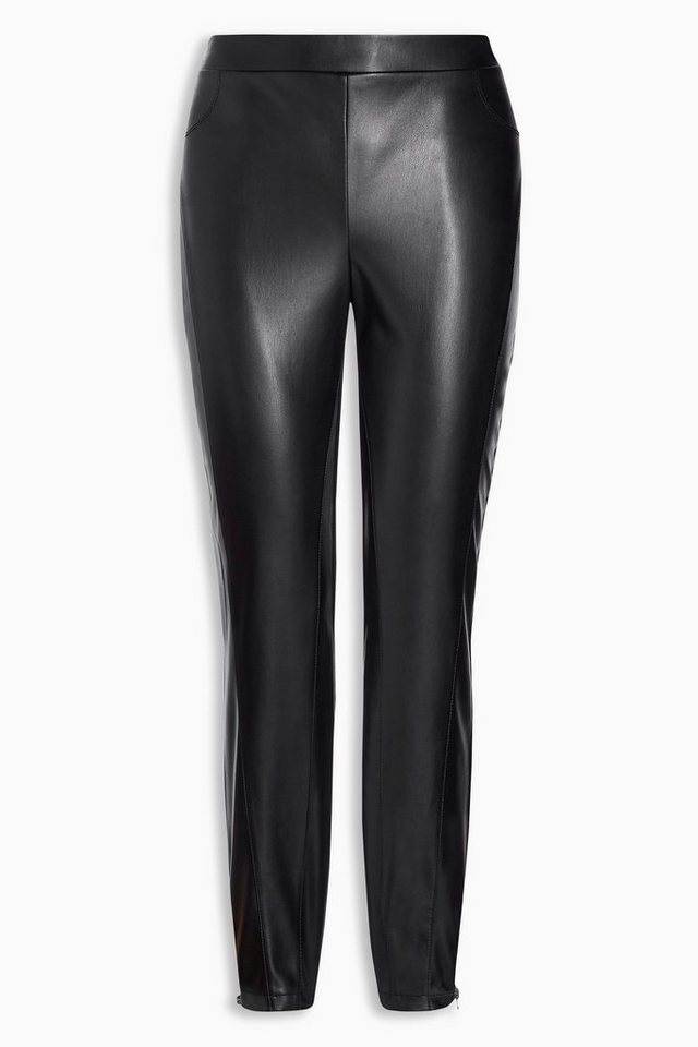 Next Leggings aus Polyurethan und Ponte in Black