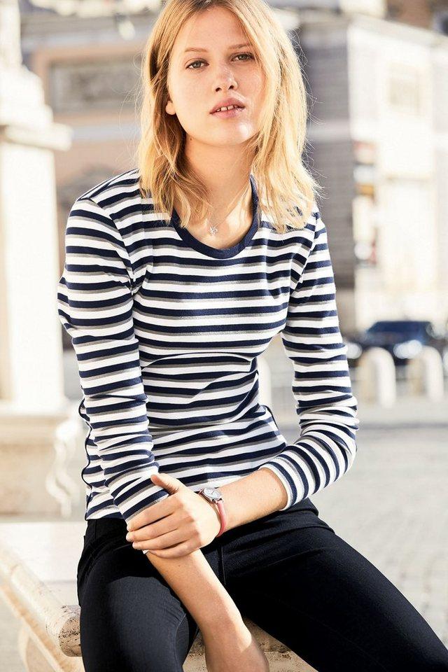 Next Gestreiftes Shirt in Blue/White