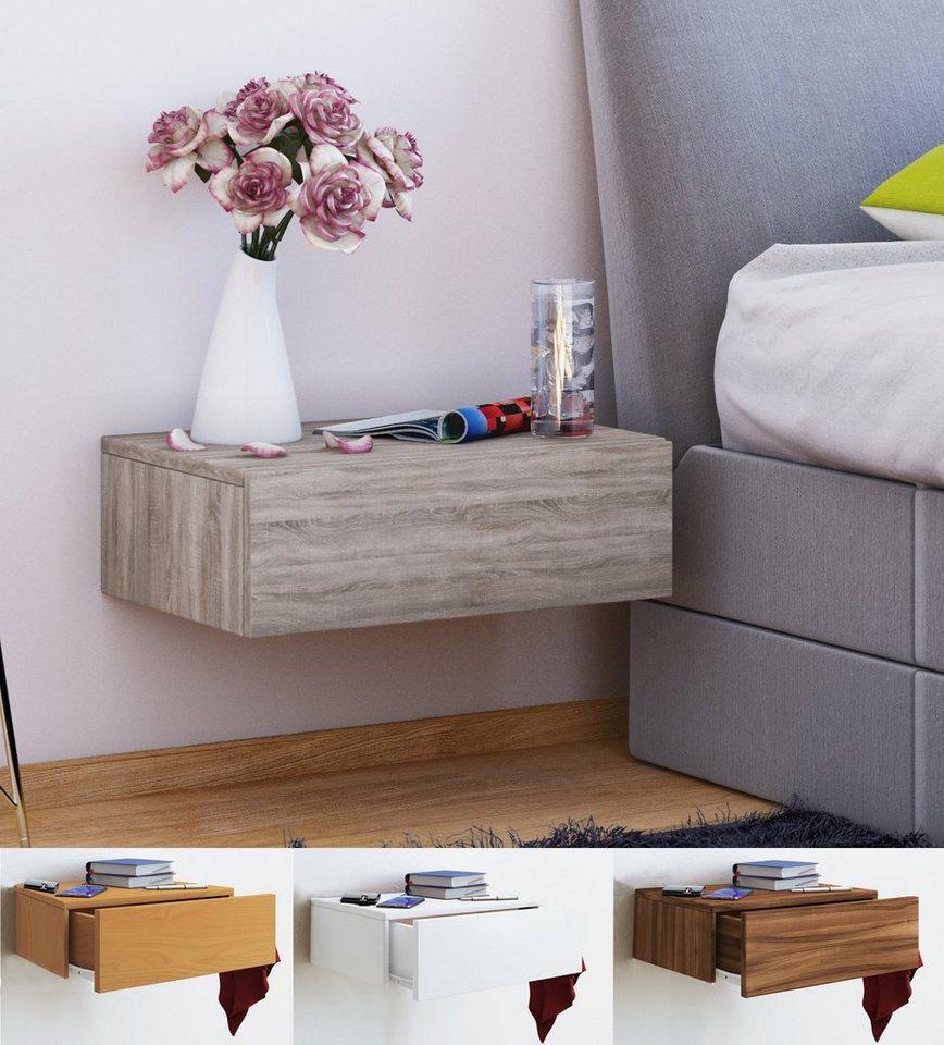 Vcm wand nachttisch dormas online kaufen otto - Nachttisch 30 cm ...