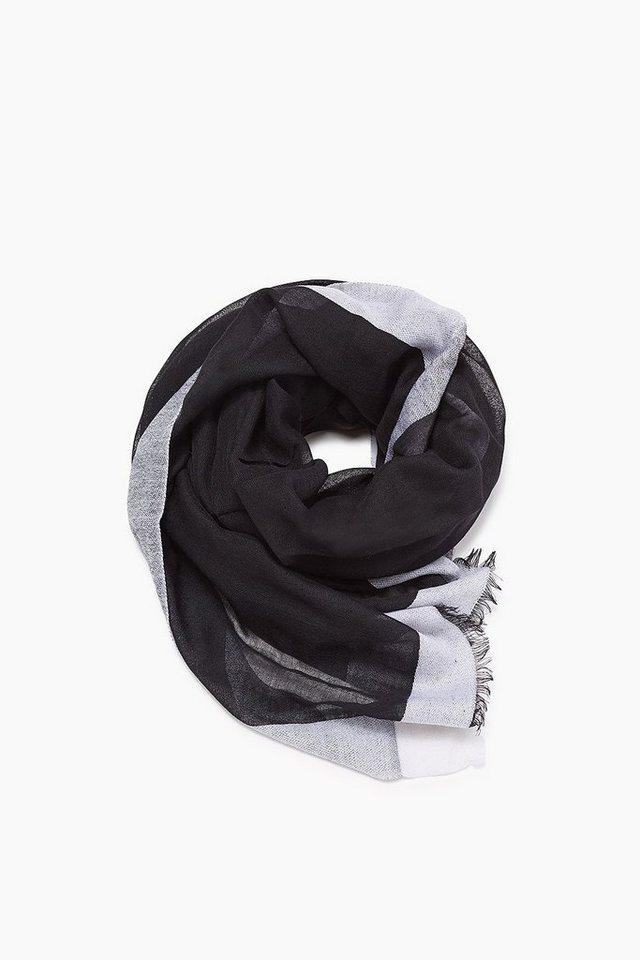 ESPRIT CASUAL Leichter Webschal aus reiner Wolle in BLACK