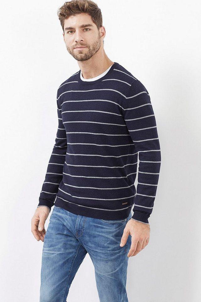 ESPRIT CASUAL Streifen Pulli aus Baumwolle mit Kaschmir in BLUE