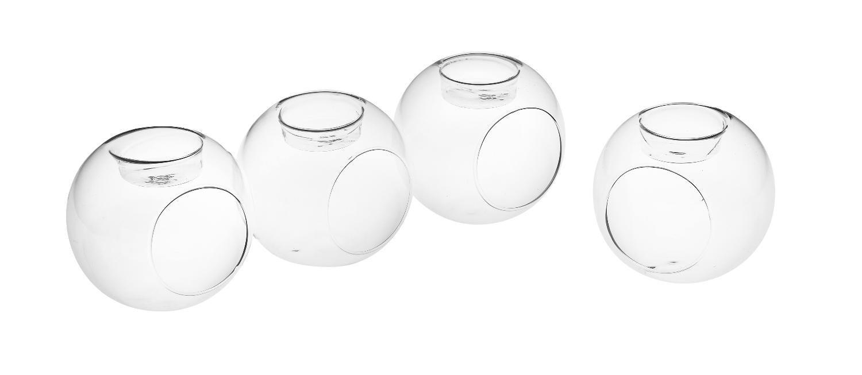 VBS Teelicht-Kugeln, 4 Stück   Dekoration > Kerzen und Kerzenständer > Teelichter   Glas - Klarglas   VBS