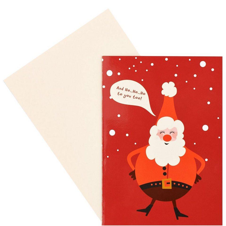 BUTLERS CARD »HoHoHo to you« in Braun