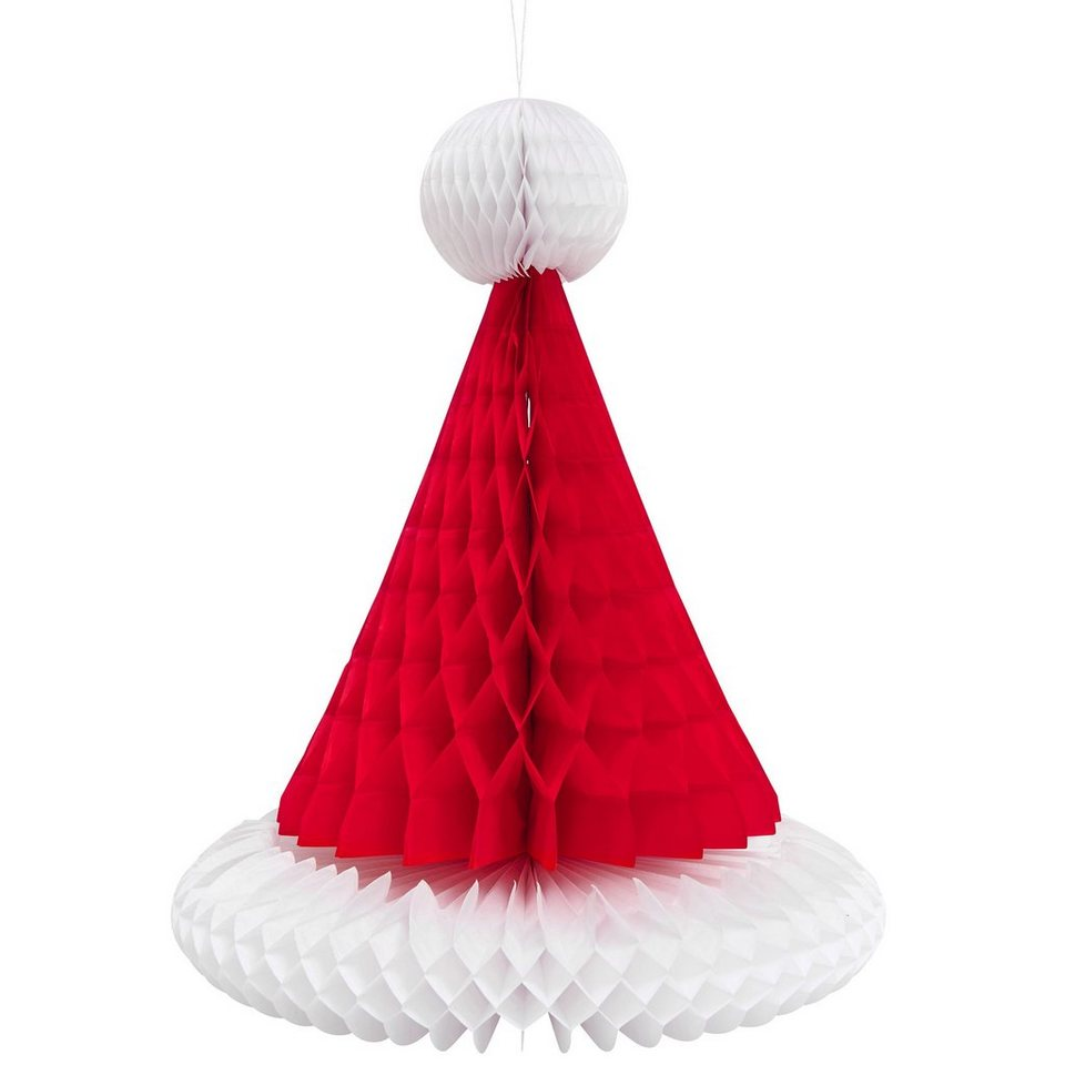 BUTLERS SANTA »Papierdekoration Santa Mütze groß« in rot- weiss