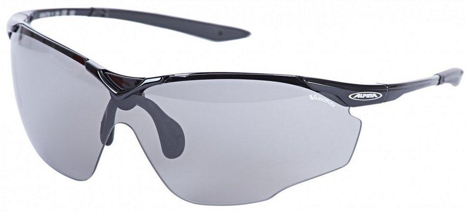 Alpina Radsportbrille »Splinter Shield VL« in schwarz