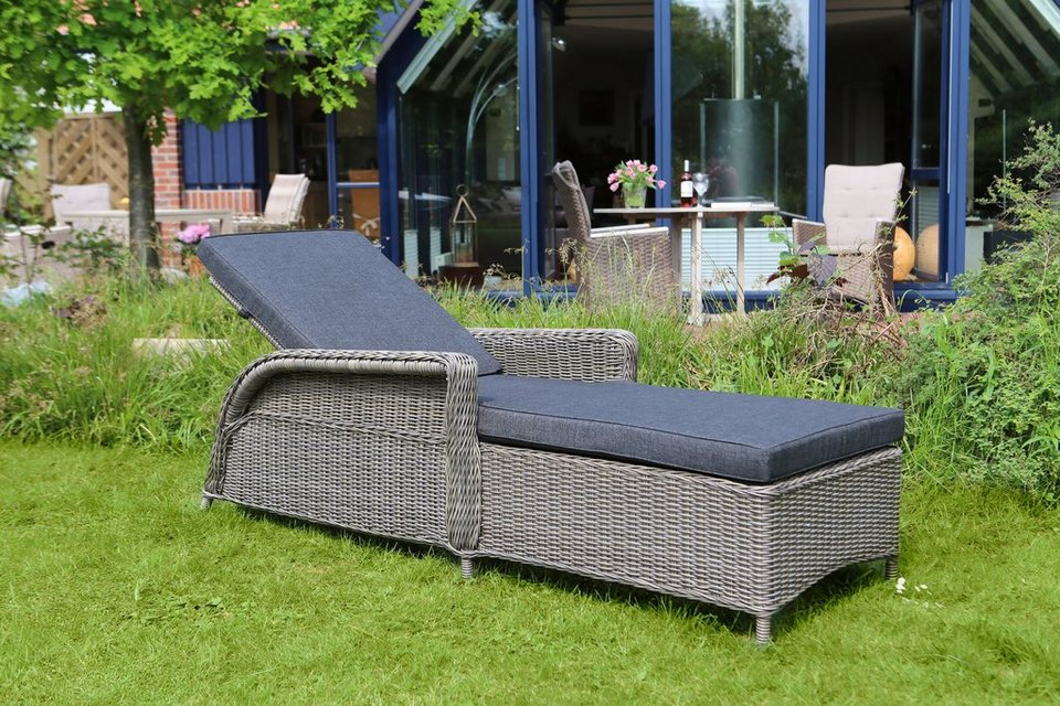 destiny gartenliege casa polyrattan grau inkl auflage online kaufen otto. Black Bedroom Furniture Sets. Home Design Ideas