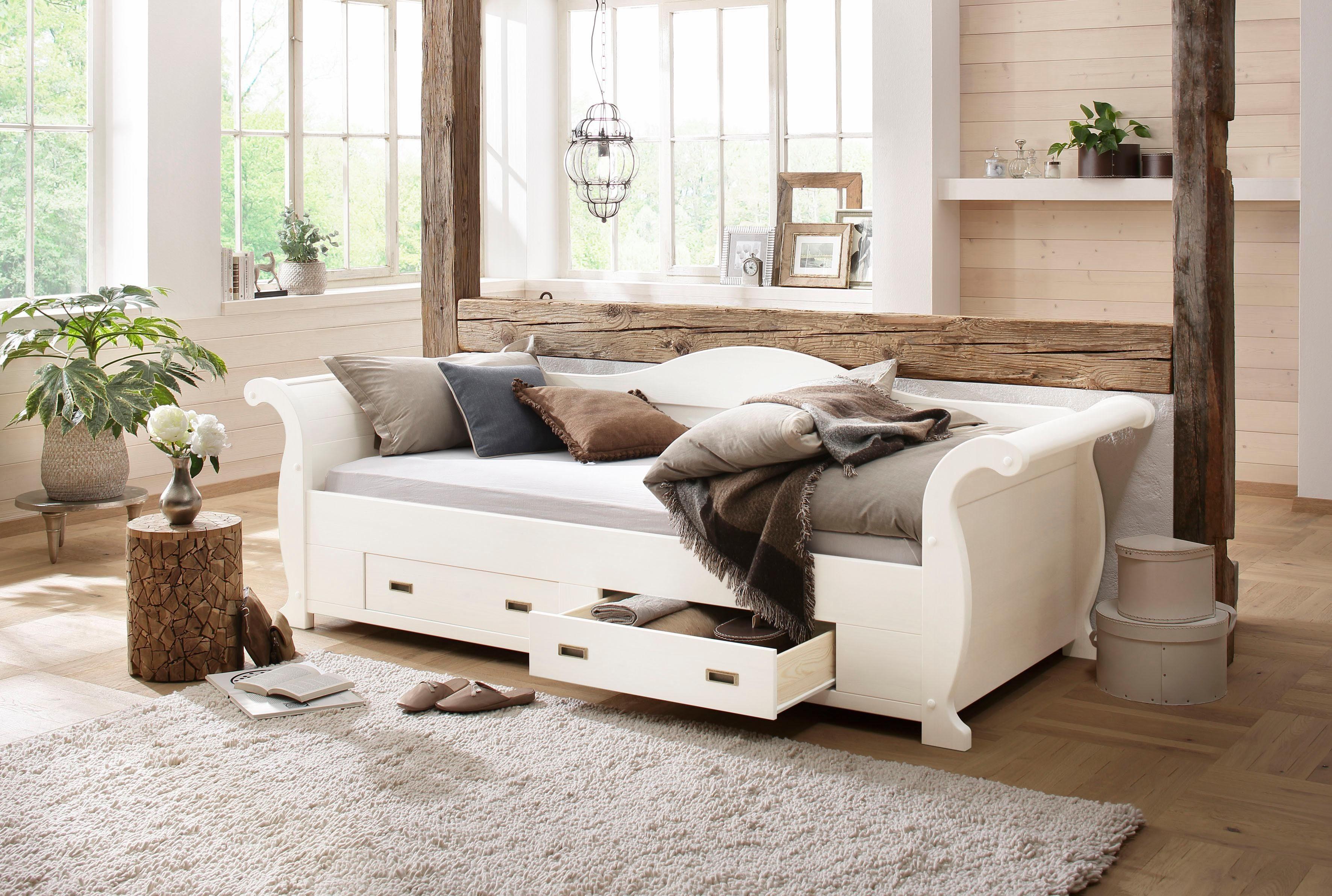 Home affaire Stauraumbett »Bella«, mit dekorativen Fräsungen, Liegefläche: 90/200 cm