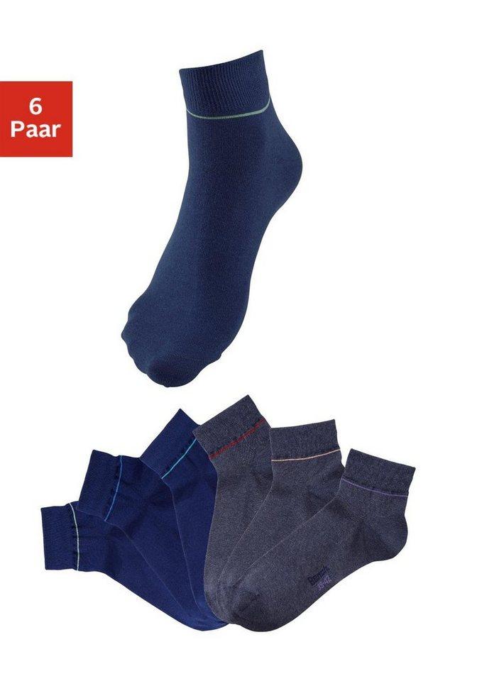Bench Kurzsocken (6 Paar) in 3x marine + jeans