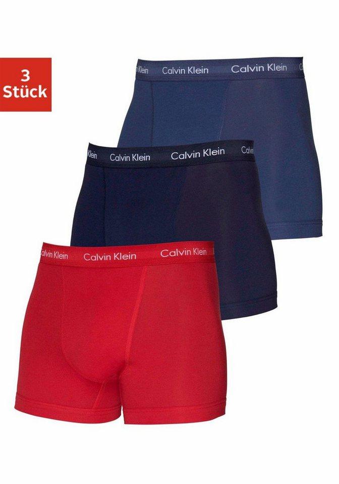Calvin Klein Boxer (3 Stück) in 1x schwarz 1x rot 1x blau