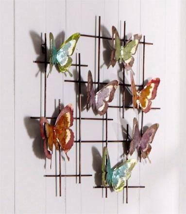 Home affaire Wanddeko »Schmetterlinge« in bunt