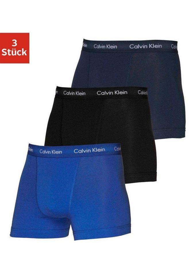 Calvin Klein Boxer (3 Stück) in 1x schwarz 1x blau 1x dunkelblau