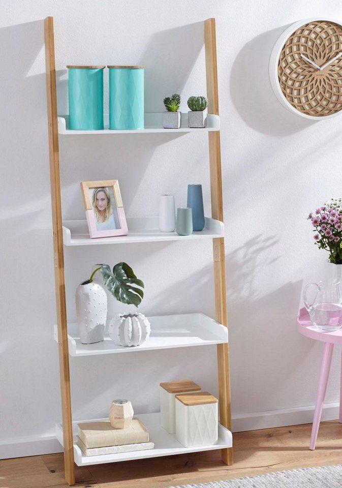 zeller leiter regal mit 4 b den online kaufen otto. Black Bedroom Furniture Sets. Home Design Ideas