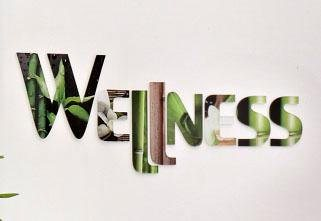 Dekobuchstaben Acryl, Home affaire, »Wellness«, 65/15 cm in Grün