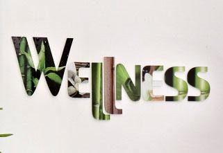 Dekobuchstaben Acryl, Home affaire, »Wellness«, 65/15 cm