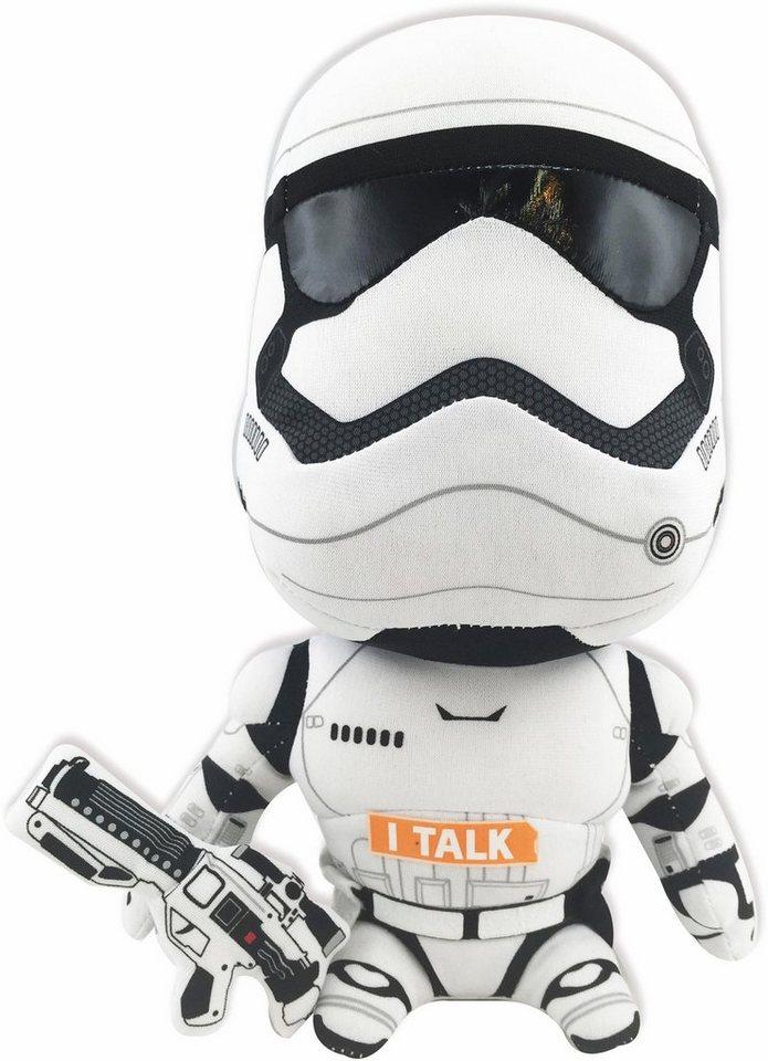 Plüschfigur mit Sound, »Disney Star Wars™, Stormtrooper, ca. 23 cm« in weiß