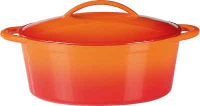 GSW Bräter »Orange Shadow«, Gusseisen, (1-tlg), 7 Liter, Induktion