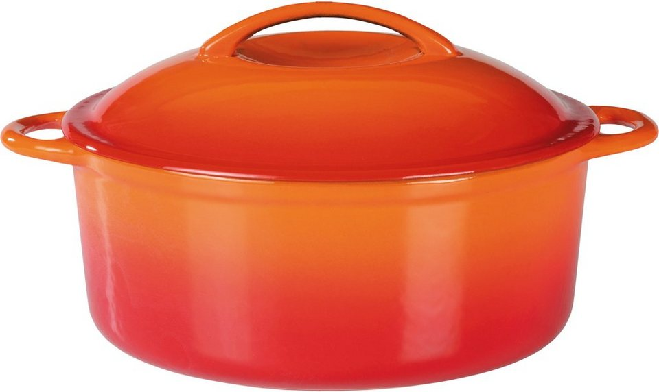 gsw kochtopf gusseisen induktion orange shadow online kaufen otto. Black Bedroom Furniture Sets. Home Design Ideas
