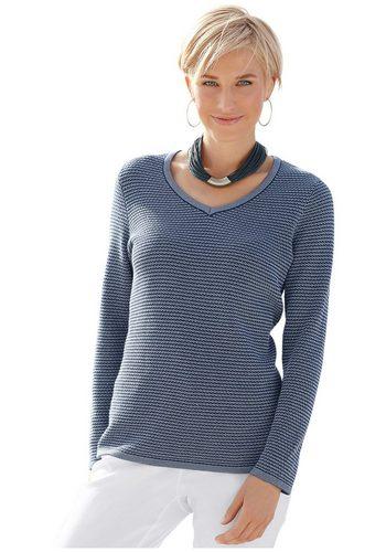 Damen Collection L. Pullover in Melange-Optik blau | 08859191031674