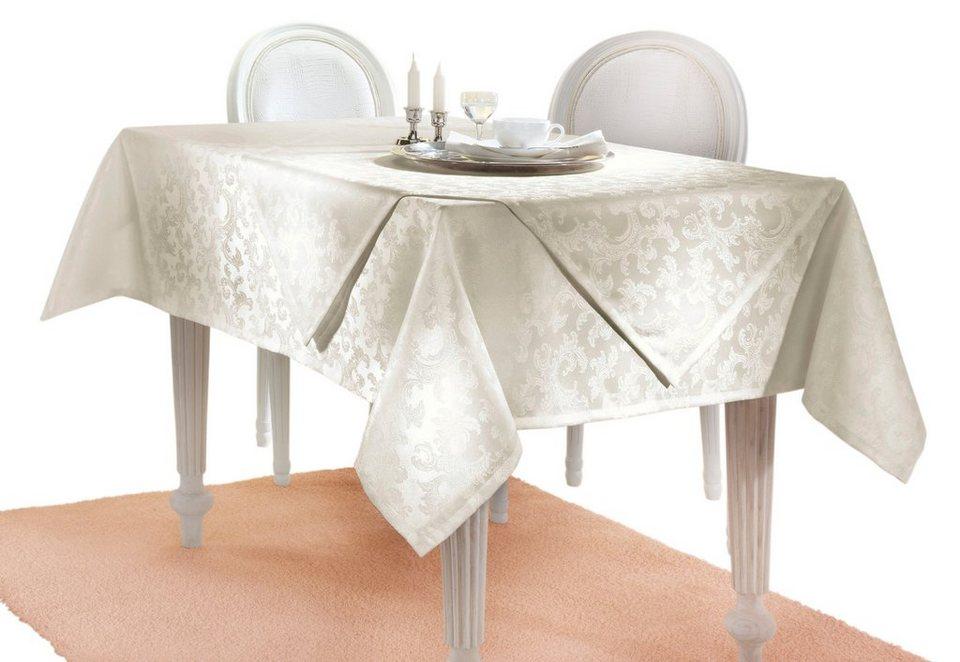 Tischdecke in champagner