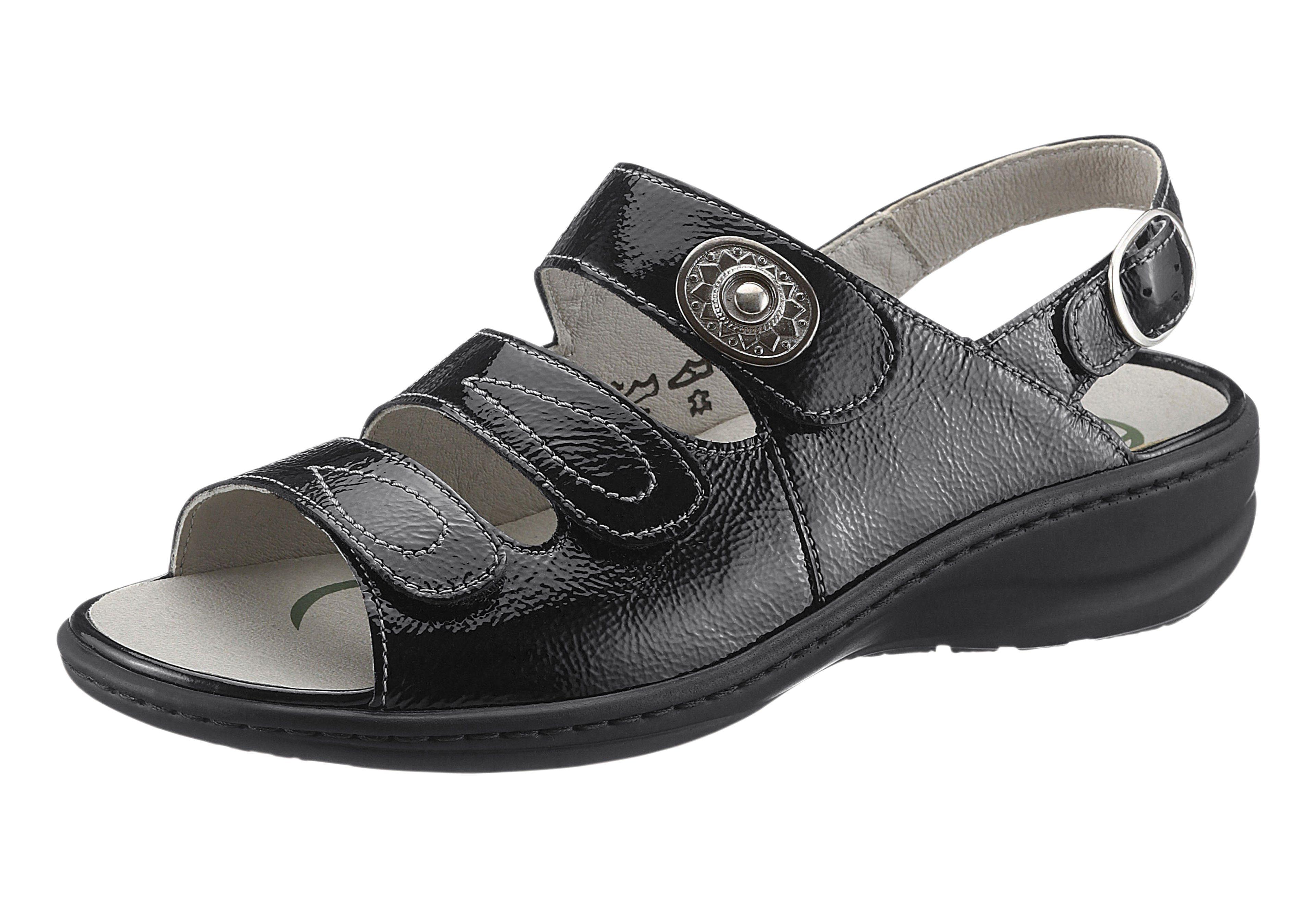 Waldläufer Sandale mit Wechselfußbett kaufen  schwarz