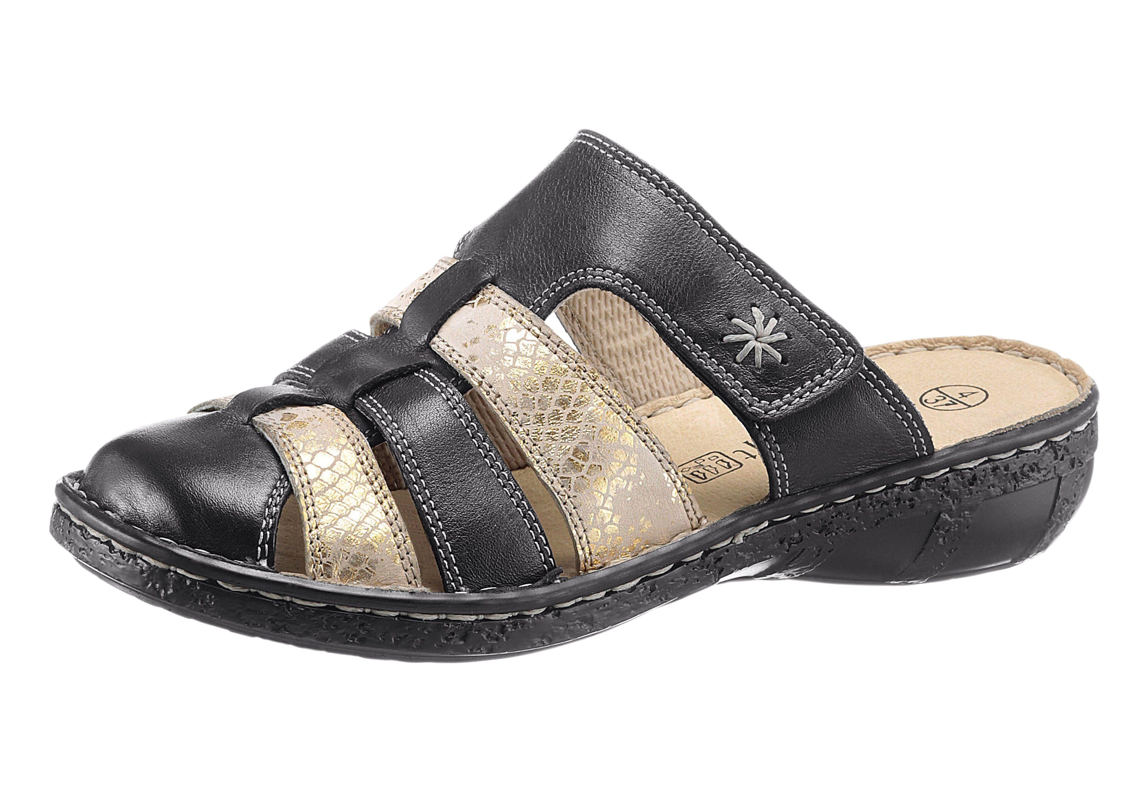 Airsoft Pantolette mit PU-Laufsohle online kaufen  schwarz-beige