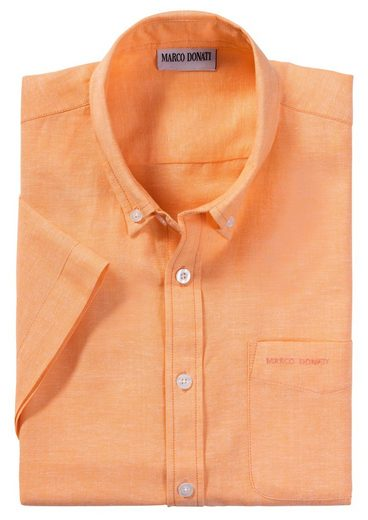Marco Donati Short-sleeved-shirt In Linen Structure